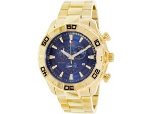 Swiss Precimax Men's SP13363 Gold Stainless-Steel Swiss Quartz Watch with Blue Dial