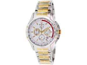 Bulova Men's Marine Star 98B147 Two-Tone Stainless-Steel Quartz Watch with White Dial
