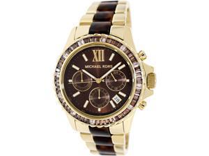 Michael Kors Glitz and Glamour Chronograph Brown Dial Ladies Watch MK5873