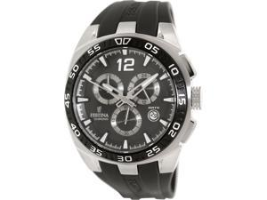 Festina Men's F16668/6 Black Rubber Quartz Watch with Black Dial