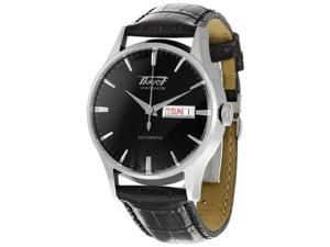 Tissot Men's T019.430.16.051.01 Black Leather Automatic Watch with Black Dial