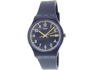 Swatch Women's Originals GN718 Blue Rubber Swiss Quartz Watch with Blue Dial