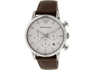 Emporio Armani Men's Classic AR1846 Brown Leather Quartz Watch