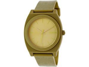 Nixon Women's Time Teller A1191897 Gold Plastic Quartz Watch