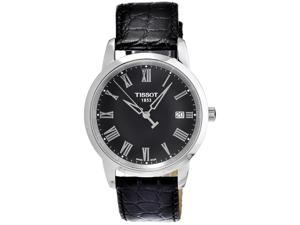 Tissot Men's T033.410.16.053.01 Black Alligator Leather Swiss Quartz Watch