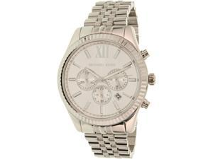 Michael Kors Men's Lexington MK8405 Silver Stainless-Steel Quartz Watch