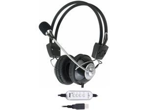 Pyle Home PHPMCU10 Multimedia/Gaming USB Headset with Noise-Canceling Microphone