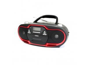 Naxa NPB-257 Portable MP3/CD Player, AM/FM Stereo Radio & USB Input- Red