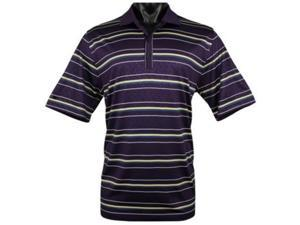 Greg Norman Santa Rosa Embossed Golf Shirts Color: Plum Size: Medium
