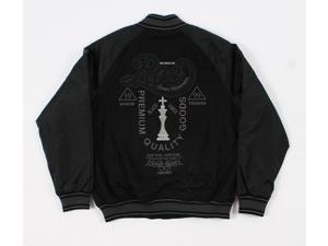Rocawear 1159R Black Mens Varsity Jacket Size:Xlarge