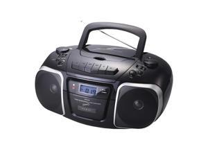Supersonic MP3/CD Player with USB/AUX Inputs, Cassette Recorder & AM/FM Radio