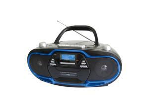 Supersonic Portable MP3/CD Player with USB/AUX Inputs, Cassette Recorder & AM/FM Radio