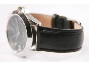 WalthamBlack Leather Band Mens watch