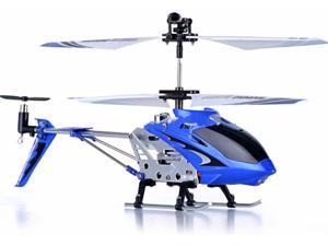 Syma S107 Mini RC Helicopter Metal Series with Gyro - Blue