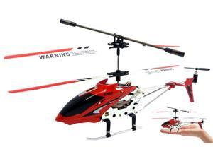 3ch Syma S107 Mini RC Remote Control Helicopter Metal Series with Gyro - Red