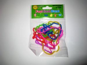 Silly Band : Fast Food Shapes 12 pcs Rubba - Bandz
