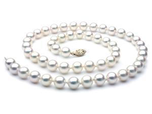 Japanese Akoya Saltwater Pearl Necklace 8mm AAA Quality 18 inch
