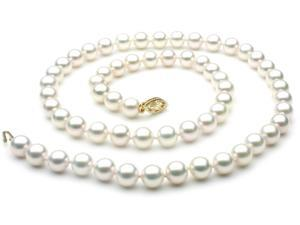 Japanese Akoya Saltwater Pearl Necklace 7mm AAA Quality 22 inch