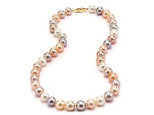 Freshwater Multicolor Pearl Necklace - 8-9mm AA+ Quality 18""