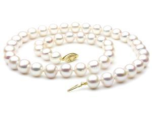 "Freshwater Pearl Necklace - 7-8mm AAA Quality 20"" 14k Gold Clasp"