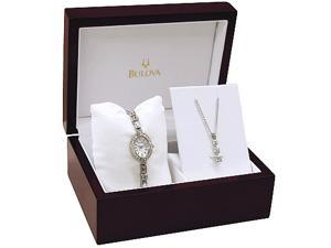 Bulova Women's Crystal Watch 96T49