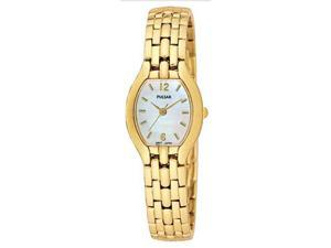 Pulsar PC3166 Women's Gold Tone White Mother of Pearl Dial Watch