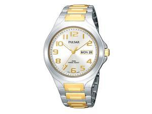 Pulsar PXN153 Men's Silver Dial Two Tone Stainless Steel Watch