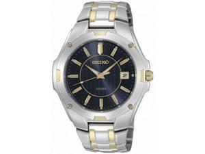 Seiko SGEE60 Men's Two Tone Stainless Steel Blue Dial Watch