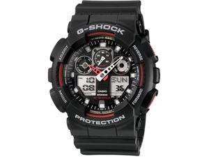 Casio G-Shock Black Resin Strap Mens Watch GA100-1A4