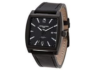 Jorg Gray Leather Black Dial Men's watch #JG5200-17