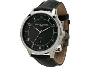 Jorg Gray Leather Black Dial Men's watch #JG1060-23