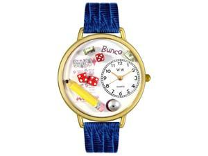 Bunco Royal Red Leather And Goldtone Watch #G0430010