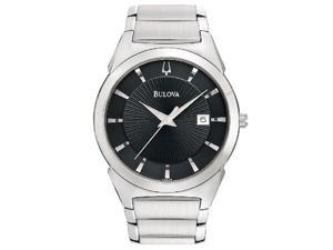 Bulova Steel Bracelet Date Window Black Dial Men's watch #96B149