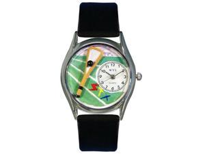 Lacrosse Black Leather And Silvertone Watch #S0820001