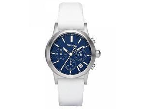 DKNY NY8191 Women's Blue Dial Rubber Strap Chronograph Watch