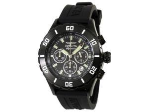 Invicta Signature II Chrono Black Dial Black Black Rubber Strap Mens Watch 7381