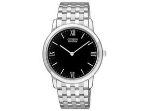 Citizen Eco-Drive Stiletto Black Dial Men's Watch #AR1120-50E