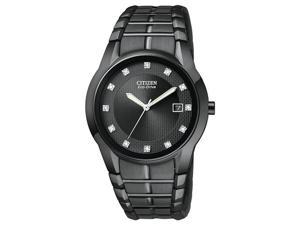 Citizen Eco-Drive IP Bracelet Diamonds Black Dial Men's watch #BM6675-52G