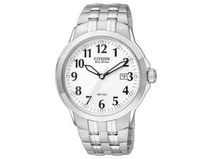 Citizen Eco-Drive Bracelet WR100 White Dial Men's watch #BM7090-51A