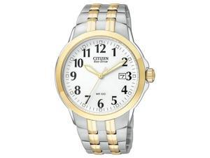 Citizen Eco-Drive Bracelet WR100 White Dial Men's watch #BM7094-50A