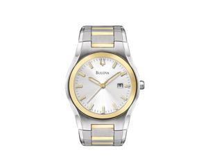 Bulova Men's Two Tone Bracelet Watch 98B125