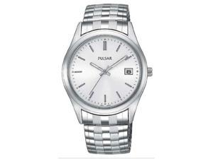 Pulsar PXH429 Men's Silver Dial Stainless Steel Expansion Band Watch