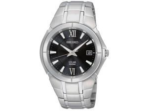 Seiko Solar Date Window Black Dial Men's watch #SNE087