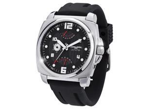 Jorg Gray JG1040-20 Men's Dual Time Black Silicon Strap Watch