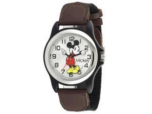 Disney MIckey Mouse Nylon Strap Silver Dial Men's watch #MCK617