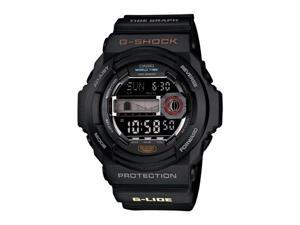 Casio GLX150-1 Black G-Shock Multi-Function Moon Tide Grpah Plastic Resin Case and Bracelet
