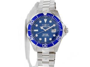 Invicta 12563 Men's Grand Diver Blue Carbon Fiber Dial Blue Bezel Stainless Stee