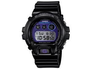 Casio DW6900MF-1 Men's G-Shock Metallic Gloss Black Resin Strap Purple Digital D