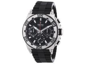 Festina F16659-5 Men's Black Dial Black Rubber & Steel Bracelet Date Watch