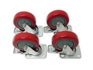 Seismic Audio - Pack of 4 Locking 4 inch Swivel Caster - Holds up to 500 lbs